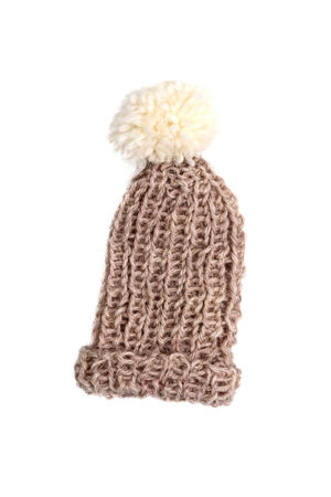 pillowy: Bobble cap in brown