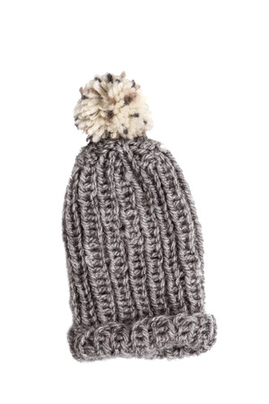 pillowy: Bobble cap in grey Stock Photo