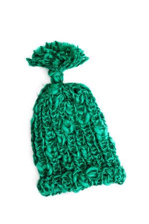 pillowy: Green bobble cap