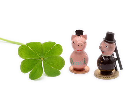 charms: Lucky charm, new year, birthday Stock Photo