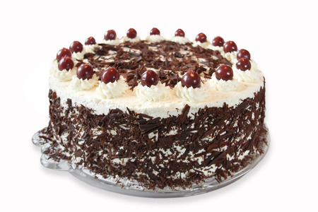 Black forest cake Standard-Bild