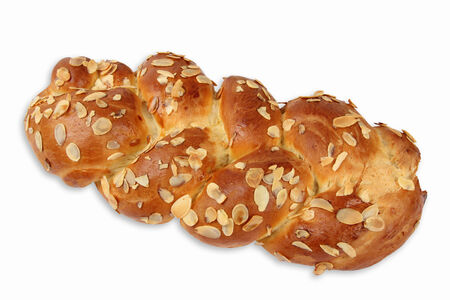 slivers: Fresh challah with almond slivers Stock Photo