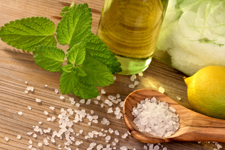 lemon balm: Wellness with natural products Stock Photo