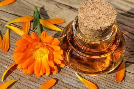 Calendula Blüte mit Öl