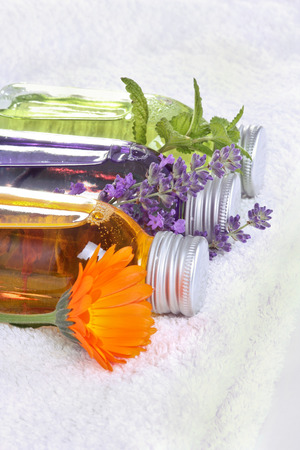 Bathing oil, calendula, lavender, melissa