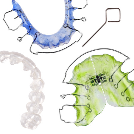 removable: Removable braces, invisible retainer Stock Photo