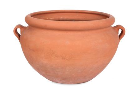 Handmade terracotta, flower pot photo