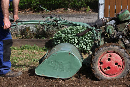 cultivator: Cultivator, working in the garden