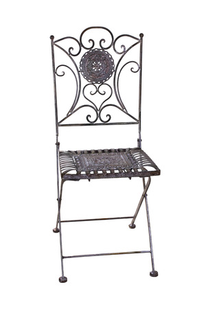 Iron chair for the garden photo