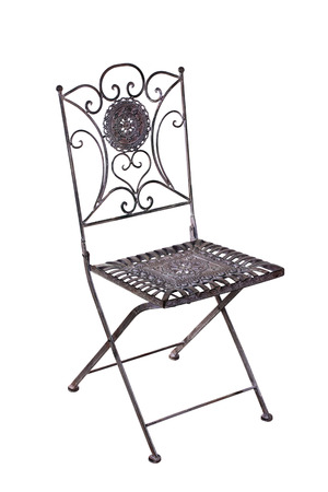 cast metal type: Iron chair for the garden