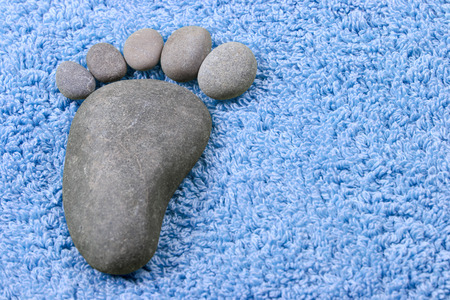 toweling: Foot symbol on terry towel