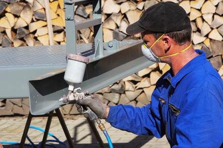 pulverizador: Trabajar con pistola de pintura
