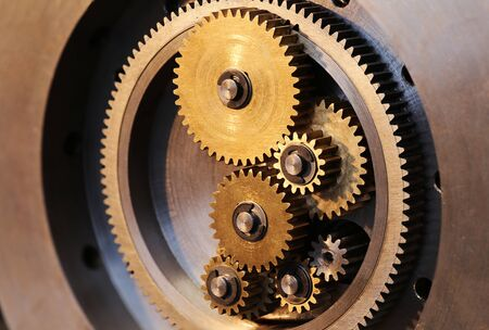 Brass gears of a locking mechanism