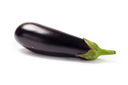 Isolated fresh eggplant.