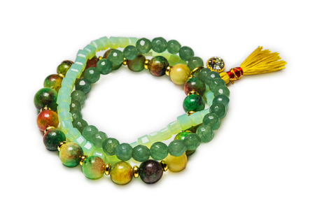 Bracelet with natural stones Stock Photo