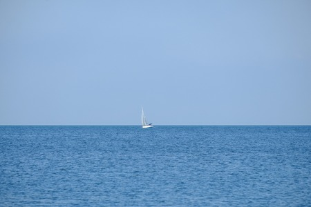 White Yacht in the Sea of Marmara