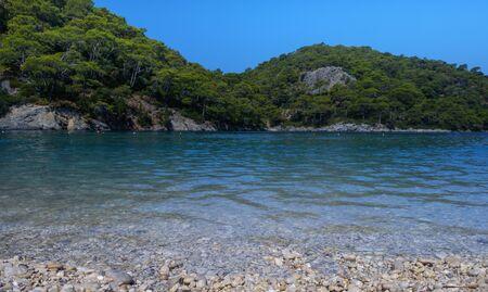 Oludeniz, Turkey. Blue Lagoon. View of the mountains, and sea