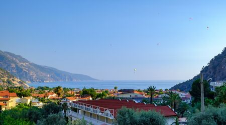Oludeniz, Turkey. Panoramic view of the city and the bay.