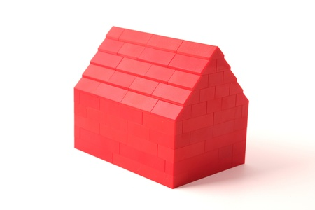 Red plastic house Stock Photo - 13394099