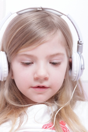Young girl with headphones Stock Photo - 13606146