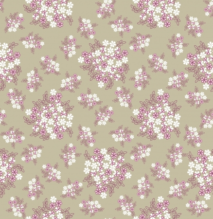 seamless pattern background with white gentle flowers Vector