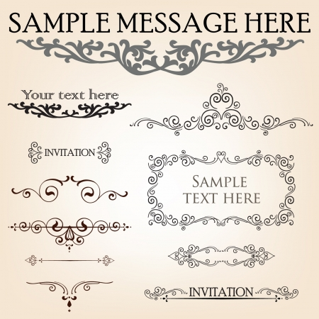 Calligraphic retro elements and page decoration  Vintage Design Ornaments Stock Vector - 15383094