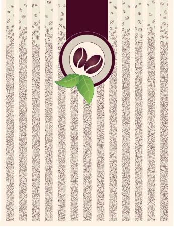 coffee beans: koffiebonen pakket naadloze achtergrond Stock Illustratie