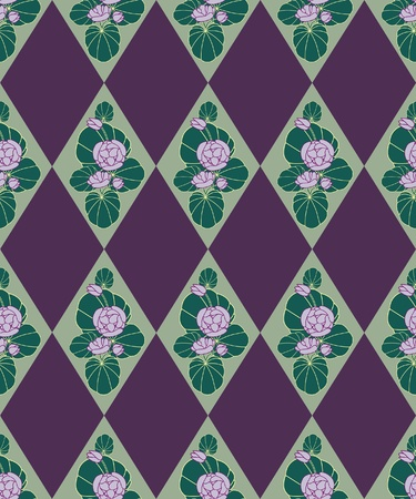 floral seamless pattern with flower motif in a retro style Stock Vector - 15636349