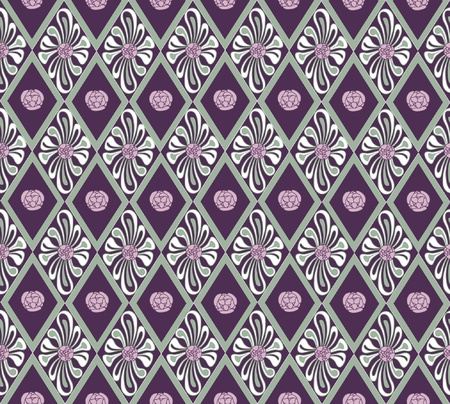 pastiche: floral seamless background  in a retro style, wallpaper