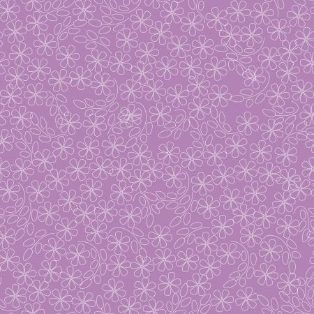 violeta: patr�n floral sin fisuras con flores contorno blanco sobre fondo de color rosa