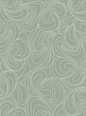 pale ocher: screen background with whirling waves in retro style  Illustration