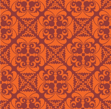 floral seamless pattern background  in retro style Vector