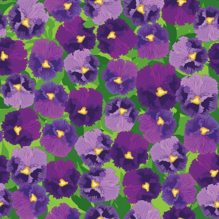 pansy: floral seamless pattern gentle lilac pansy