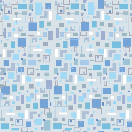 Abstract mosaic seamless pattern  Retro 1960s background  Vector