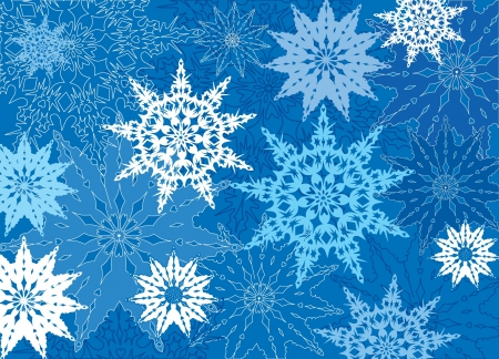 december: snowflake background  lacy pattern   Illustration
