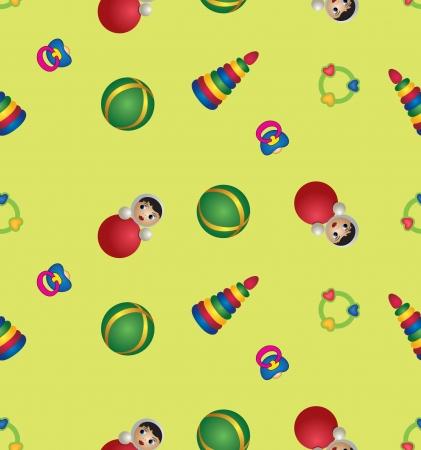 pezones: Juguetes para bebés de juguete de patrones sin fisuras de fondo, los niños s
