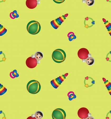 seamless baby toy pattern background, children s toys Vector