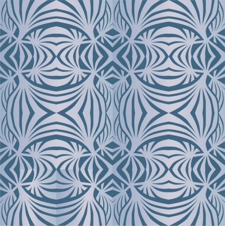 silver grass: floral seamless pattern background in retro style 1960s Illustration