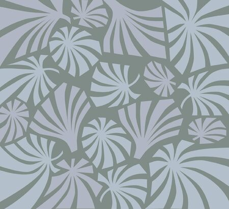 floral seamless pattern background in retro style 1960s Vector