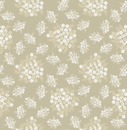 floral seamless pattern background with white gentle flowers  Vector