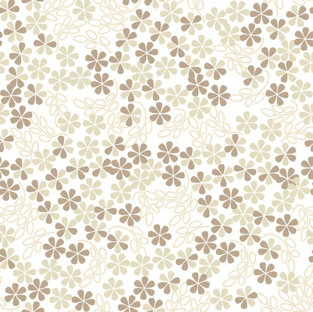 floral seamless pattern background with white gentle flowers Stock Vector - 16062428