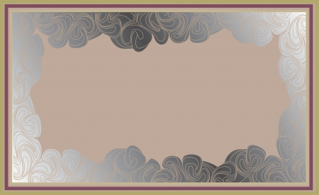 abstract background frame in the art-deco style Vector