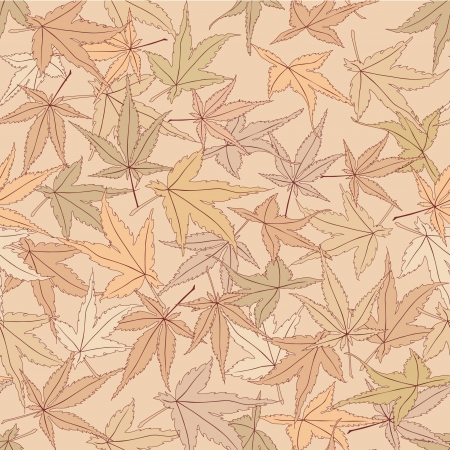 japanese maple: seamless pattern with  maple leaves