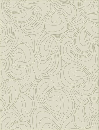 pale ocher: background from whirling waves in retro style