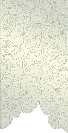 pale ocher: background from whirling waves  Screen in retro style
