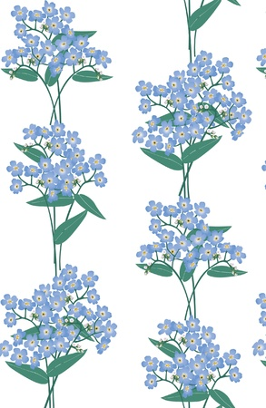 floral seamless background  blue flower forget-me-not