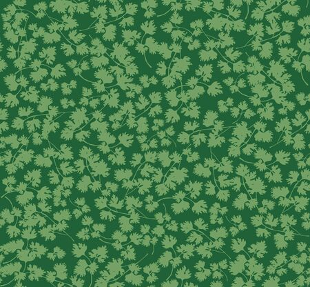 seamless grass background, parsley green leaves pattern Vector