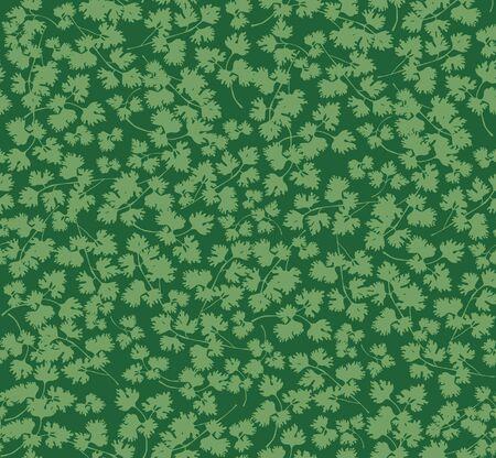 cottage garden: seamless grass background, parsley green leaves pattern