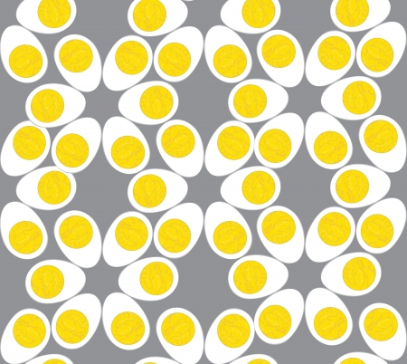 Egg seamless pattern. Grey background  Stock Vector - 16140088