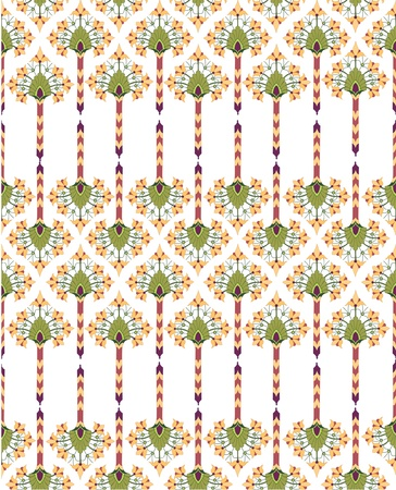 Floral seamless pattern with flower in a retro style on white background Stock Vector - 16140262